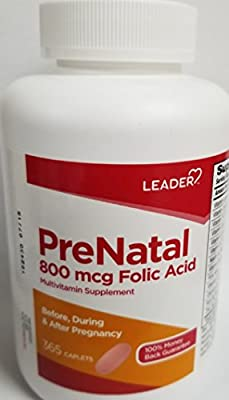 Leader PreNatal Vitamins, 365 Caplets (Pack of 9)