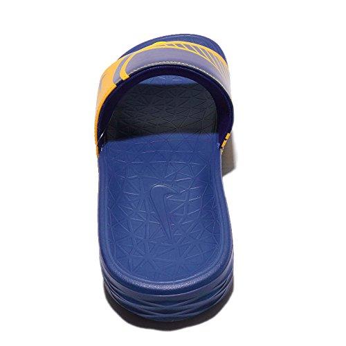 NIKE Men's Benassi Solarsoft NBA, Amarillo/Rush Blue Amarillo/Rush Blue-rush Blue