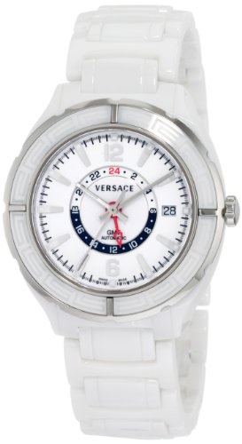 Versace Women's 02WCS1D001 SC01 DV One Swiss Automatic Ceramic Dual Time Zone Watch