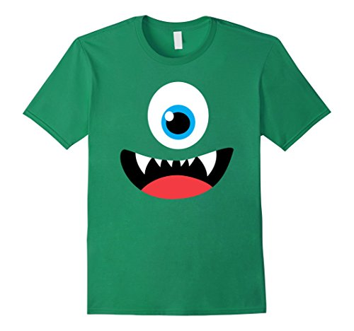 Mens Funny Scary Monster Costume Halloween Shirt for Kids Adults Large Kelly Green