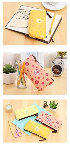 Happy Star® Fruit Slice gemustert Leinwand Cute Bleistift Fällen Cosmetics Make Up Taschen Pen Pouch Star Fruit Star Fruit bmaGl