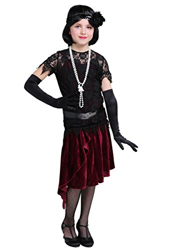 Toe Tappin' Flapper Girls Costume Large (Flapper Apparel)