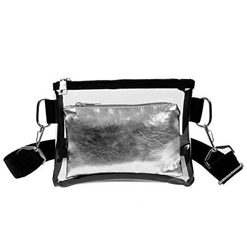 Clear Women Casual Mini Bags akaddy Bag PVC Bags Shoulder Zipper Messenger Crossbody Sa4aqT1w