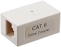 3 PCS Cat6 Inline Coupler, White, CNE581361