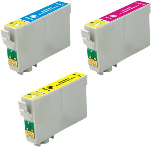Virtual Outlet ® 3 Pack Remanufactured Inkjet Cartridges for Epson T069 #69, T069220 T069320 T069420 Compatible with Epson Stylus CX5000, Stylus CX6000, Stylus CX7000F, Stylus C120, Stylus CX7400, Stylus CX8400, Stylus CX9400Fax, Stylus CX7450, Stylus NX