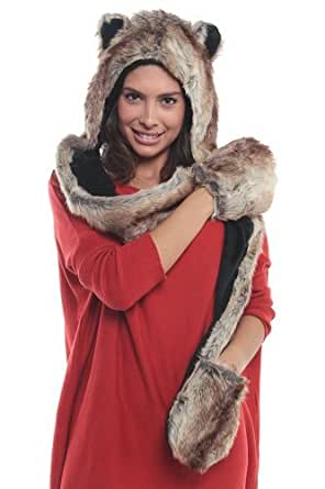 Faux FUR Animal Hats Hoods Bear Brown Ski Unisex