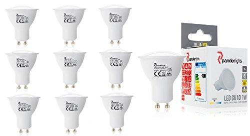 PanderLights 10er Pack SET GU10 LED Lampe 1,0W 80lm (Ersetzt ca. 10W) Warmweiß - SMD LED Leuchtmittel - 120° Abstrahlwinkel