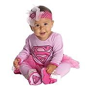 DC Comics Supergirl Onesie And Headpiece, Pink, 0-6 Months