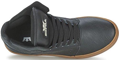 Supra Atom Nero Gum Uomo Pelle Skate Sneaker Scarpe Stivali