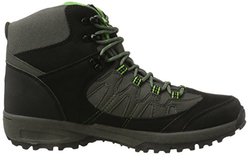Lico Steppe, Zapatos de High Rise Senderismo para Hombre Negro (Schwarz/grau/gruen)