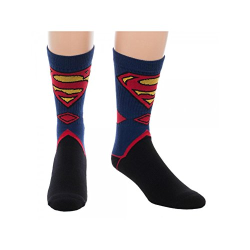 Superhero Dc Comics (Super Hero DC Comics Superman Suit Up Crew Socks By Superheroes)