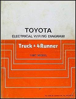 1987 toyota truck \u0026 4runner wiring diagram manual original toyota 1988 Toyota 4Runner Inclinometer Gauge