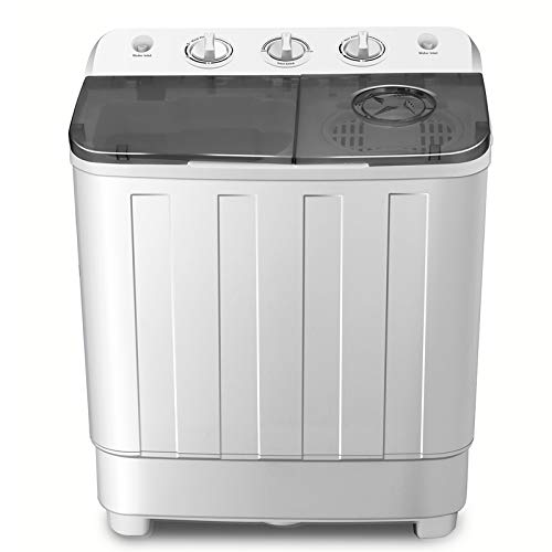 FitnessClub Portable Twin Tub Washing Machine 7.6 KG Total Capacity Washer And...