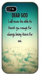 iPhone 6+ Plus Dear God. I will never be able to thank you enough fir akways being there for me. Clouds, sky - black plastic case / Inspirational and motivational, Bible verse, biblical, verses by SHURELOCK TM