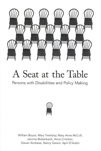 A Seat at the Table: Persons with Disabilities and Policy Making pdf epub