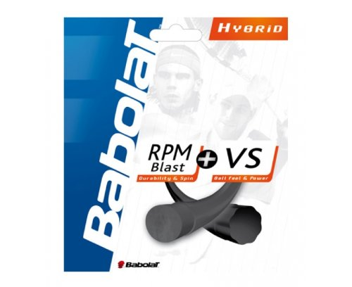 Hybrid Tennis String - Babolat Combo Pack RPM Blast 17 Plus VS 16 Tennis String