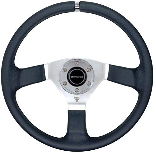 Shutt Elegance Graphipe VEP 350 MM 6 holes bolts Black and Red Anodized Aluminum Sport Racing Steering Wheel