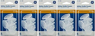 GE Outlet Safety Covers, Clear 40 Count