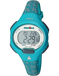 Women's TW5M07200 Ironman Essential 10 Mid-Size Teal Floral Resin Strap Watch