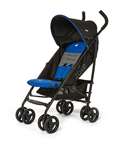 Joie Nitro Stroller - Midnight Blue Compact, folds easily comes with a rain cover