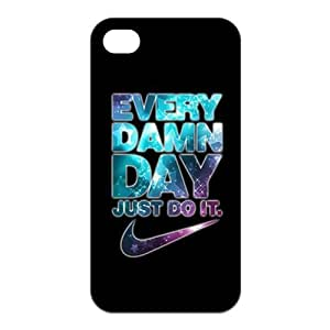 The Unique cool Just do it Brand logo Stylish Portrait Custom Fashion flexible Snap on rubber case Apple iphone 4/4S ultrathin Waterproof Premium Quality by Distinctive Design Studio wangjiang maoyi