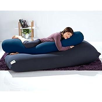 Amazon Com Yogibo Roll Pillow Blue Home Amp Kitchen