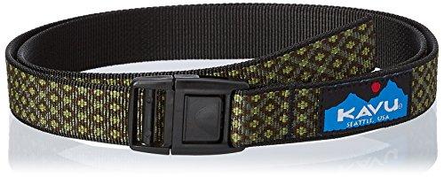 KAVU Burly Belt Apparel Belt, Kaleid Green, One Size (Bison Belt)