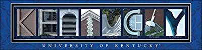 College Campus Letter Art Kentucky Bold Print Unframed Poster 22x6 Inches