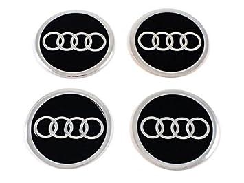 4 placas decorativas adhesivas para tapacubos y llantas, de aluminio, 68 mm de diámetro: Amazon.es: Coche y moto