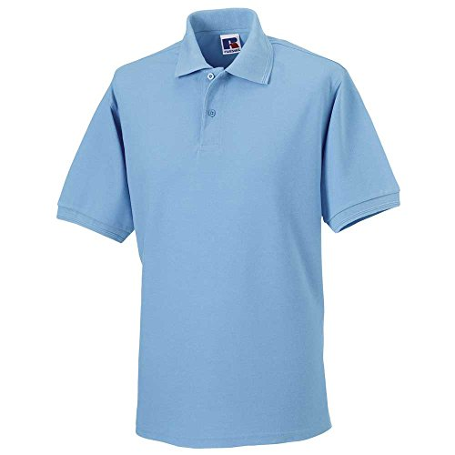 Russell CollectionHerren Poloshirt #N/A, Blau - Sky, 4XL - 48' - 50' Chest