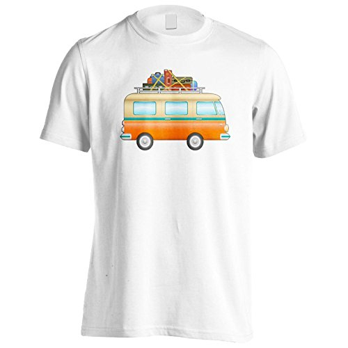 Neue Hipster Camper Van Art Herren T-Shirt m449m