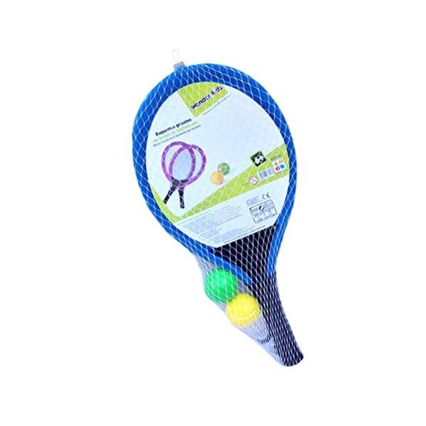 LIOOBO Set da Badminton in plastica per Bambini con 2 Racchette, Racchetta da Tennis, Gioca con Giochi da Spiaggia (Blu) 1 spesavip