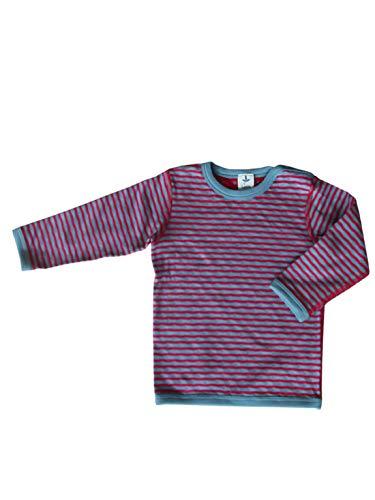 Leela Cotton Baby/kinderen omkeerbaar shirt met lange mouwen biologisch katoen