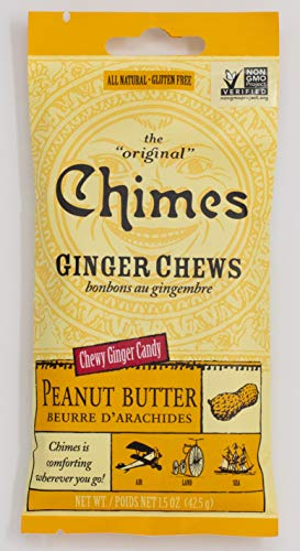 Peanut Butter Ginger Chews Chimes 1.5 oz Bag