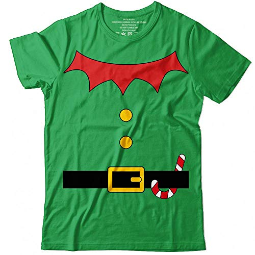 Elf Suit Easy Costume Halloween Christmas Santa's Helper Outfit Customized Handmade T-Shirt Hoodie_Long Sleeve_Tank Top_Sweatshirt