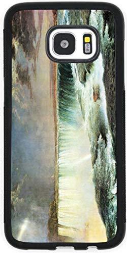 Hard Rubber Black Phone Case for Galaxy S7 Case Cover- Frederick Edwin Church Art Niagara Falls