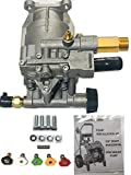 Homelite New 2700 PSI Pressure Washer Pump Replaces 308418007 Models HL252300, UT80522, UT80953, UT80522B, UT80953B, PS80522, PS80903B, UT80522A, UT80953A, UT80522D, UT80522E Includes 5 New QC Nozzles