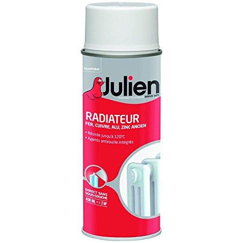 Peinture Radiateur Aé rosol 400ml Brillant Blanc ICI PAINTS DECO FRANCE JULIEN 5246296