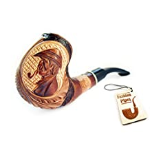 "Fashion Pipes - ""Sherlock Holmes"" Pear Wood Tobacco Smoking Pipe + Pouch! Designed for Pipe Smokers"