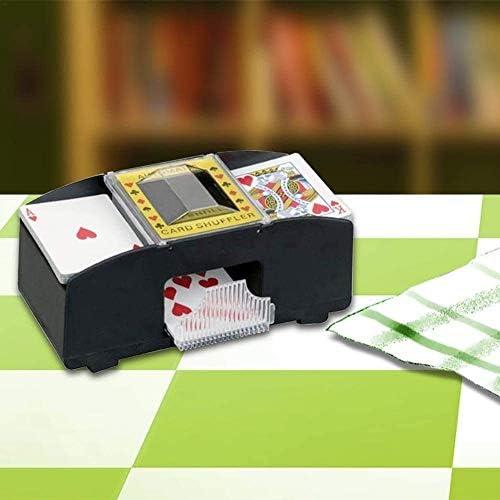 BUTIAN Automatic Poker Card Shuffler,1-2 Decks Poker Shuffles Card Shuffler Machine, Battery-Operated Electric Shuffler A Gift Funny Family Game Accessory