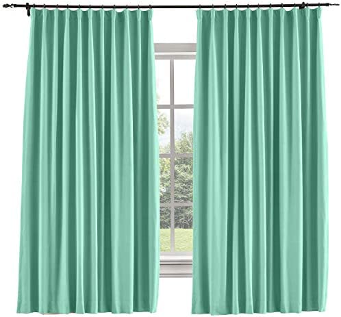 TWOPAGES Wide Width Curtains Heavyweight Blackout Goblet Hook Curtains Window Drapes Thermal Insulated Living Room Darkening Curtains 1 Panel