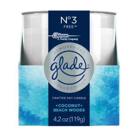Glade Atmosphere Collection Crafted Soy Candle Air Freshener No 3 Free 4.2 oz