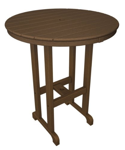 POLYWOOD RBT236TE Round Bar Table, 36-Inch, (Polywood Bar Table)
