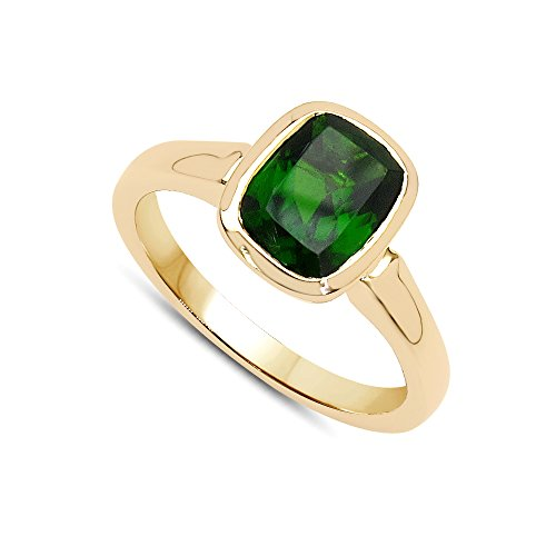Jaipuri.Instyle by Tricolour - Bague femme - Or jaune 375/1000 - pierres précieuses: Chrome Diopside env. 1.8ct. - R18116CD_9KYG