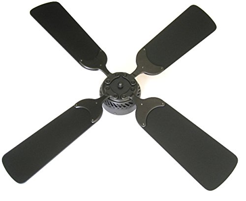 Global Electric 36-inch Non-Brush Ceiling Fan for RV, Oil Rubbed Bronze Finish with Wall Control. Black Blades by Global Electric