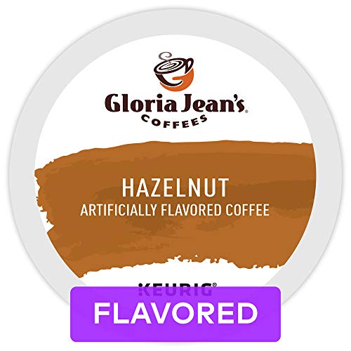 (Gloria Jean's Coffees Hazelnut, Single Serve Coffee K-Cup Pod, Flavored Coffee, 72)