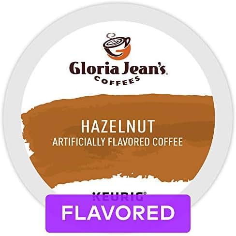 Gloria Jean's Coffees Hazelnut, Single Serve Coffee K-Cup Pod, Flavored Coffee, 72