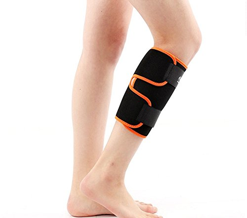 (Mcolics Calf Brace Compression Sleeve Shin Support for Calf Muscle Pulls, Shin Splints, Adjustable Leg Wrap Provides Recovery and Prevents Injuries, Fits Men and Women, 1 Sleeve)