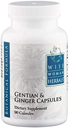 Wise Woman Herbals Gentian Ginger Capsules – All-Natural Digestive Function Support Supplement for Normal Healthy Digestion, Natural Aid for Occasional Upset Stomach, Acid Indigestion and Gas