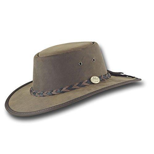 Barmah Hats Squashy Bronco Leather Hat 1022BL / 1022CH (XLarge, Rustic)
